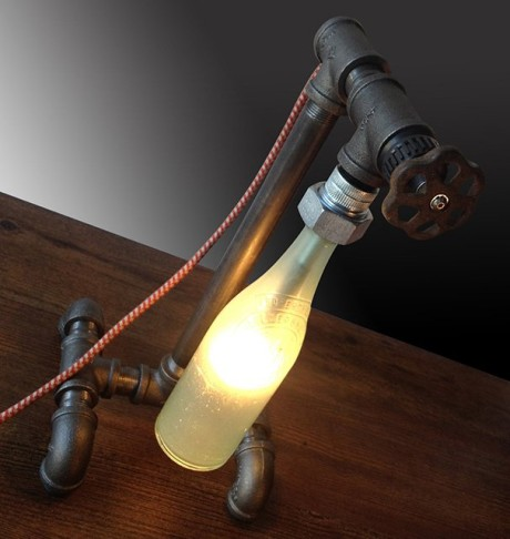 steampunk desk lamp photo - 2