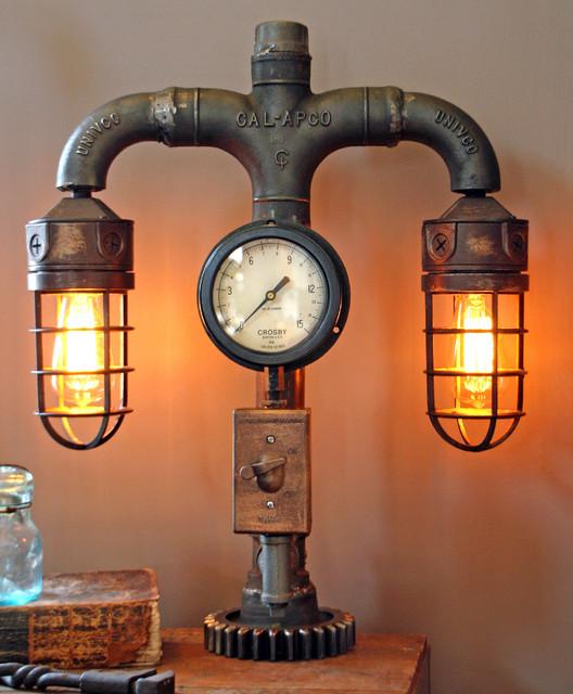 steampunk desk lamp photo - 3