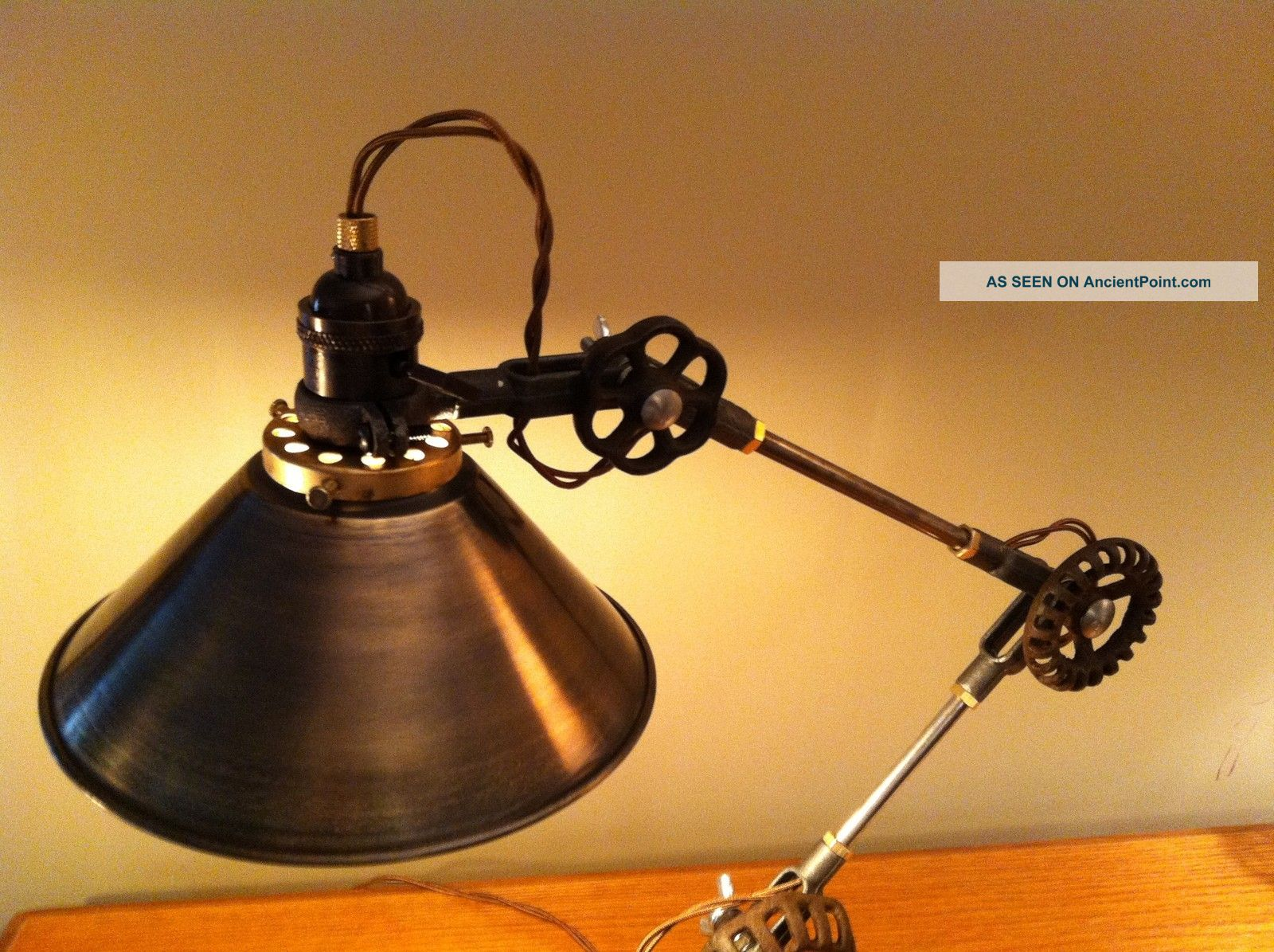 steampunk desk lamp photo - 4