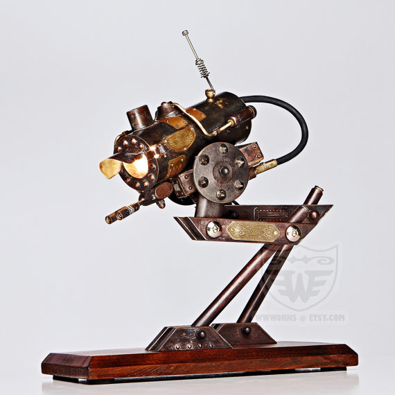 steampunk desk lamp photo - 5