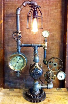 Steampunk Lamps Ways Add Touch Vintage And