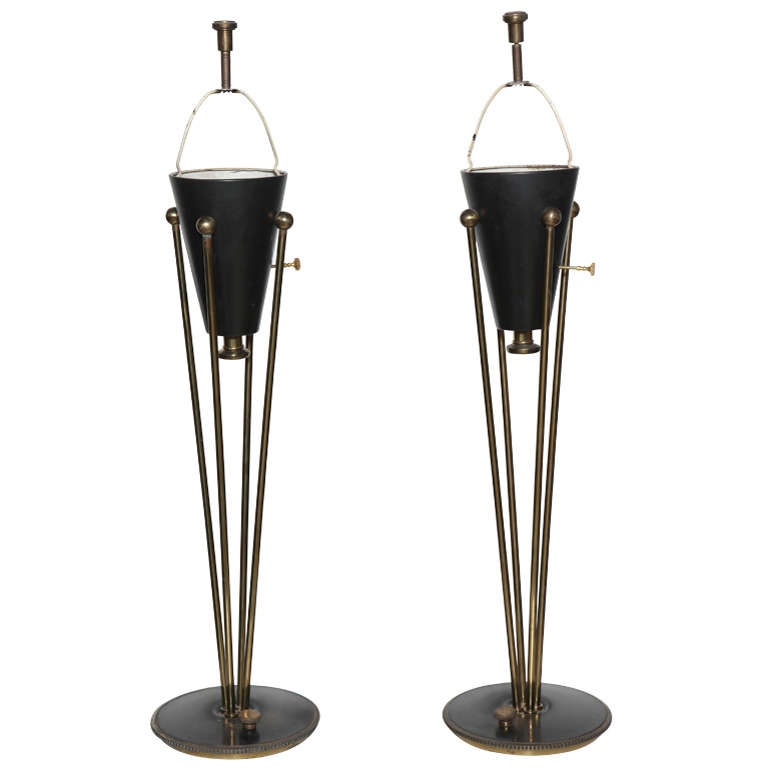 stiffel brass table lamps photo - 8