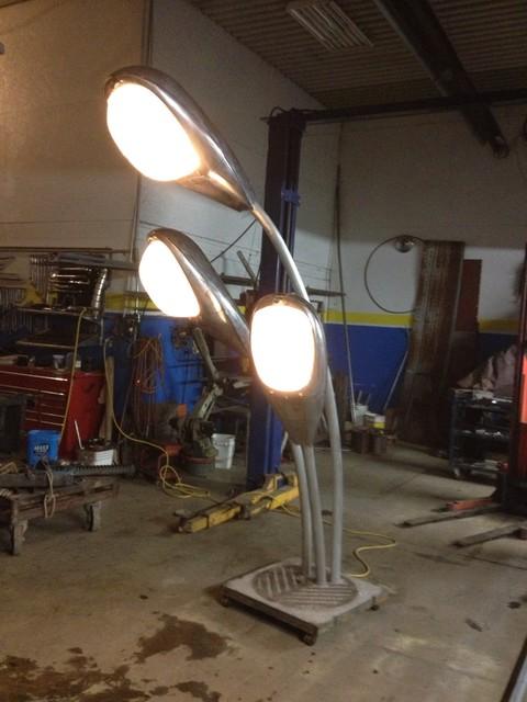 street light floor lamp photo - 4