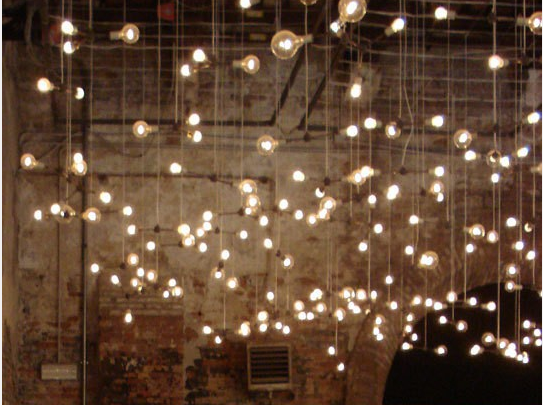 string lights ceiling photo - 6