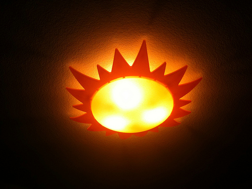 sun ceiling light photo - 4