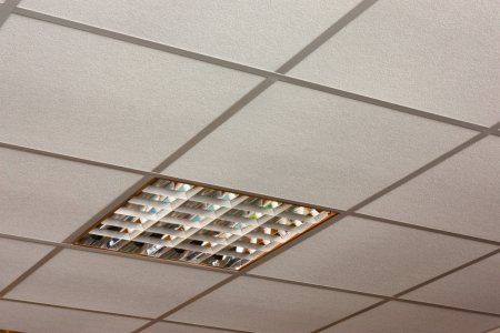 suspended ceiling fluorescent lights photo - 8