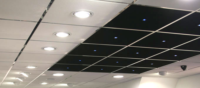 suspended ceiling grid light panels photo - 1
