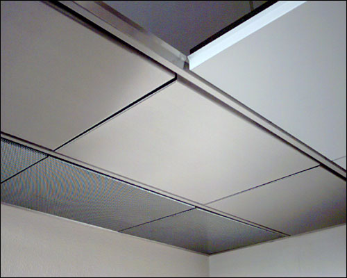 suspended ceiling grid light panels photo - 10