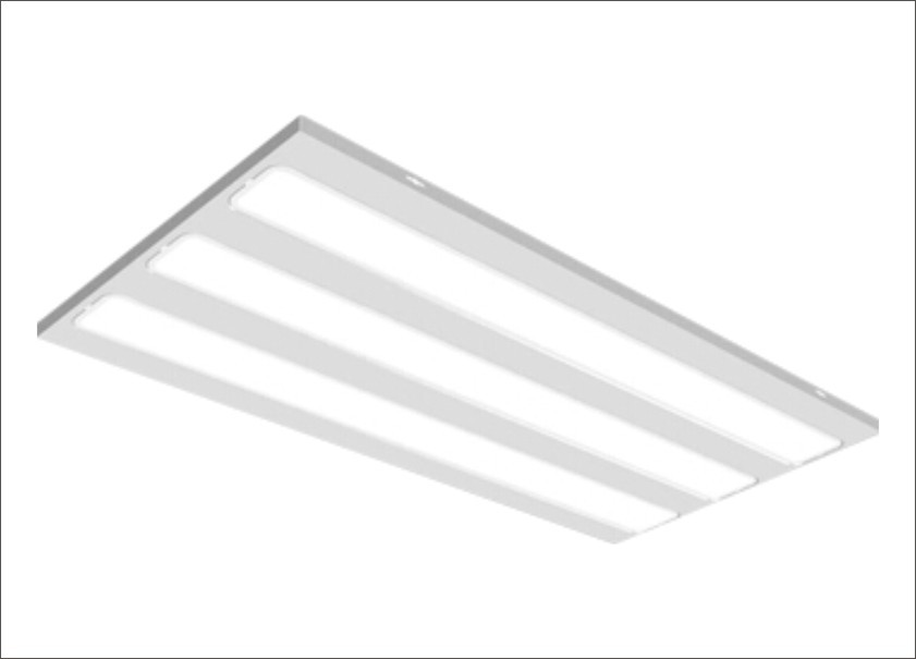 suspended ceiling grid light panels photo - 6