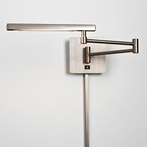 swing arm wall lamp plug in photo - 1