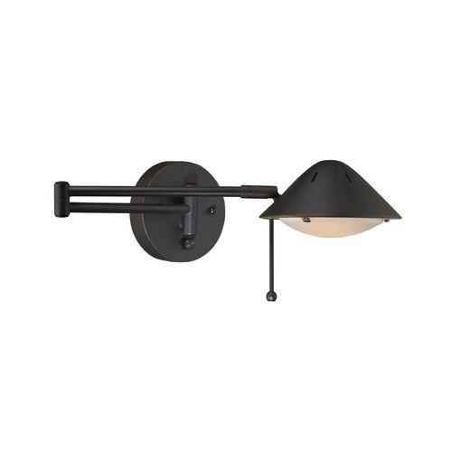 swing arm wall lamp plug in photo - 2