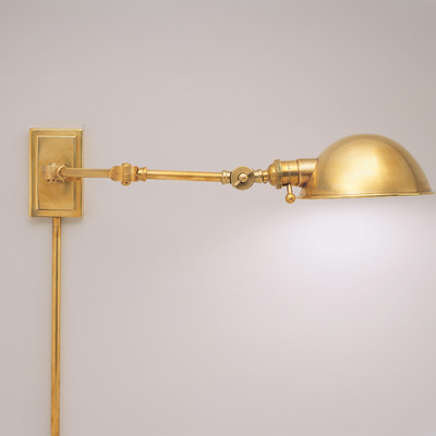 swing arm wall lamp plug in photo - 3