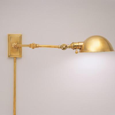 swing arm wall lamp plug in photo - 3