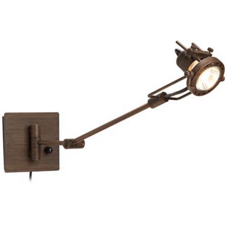 swing arm wall lamp plug in photo - 4