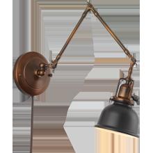 swing arm wall lamp plug in photo - 5