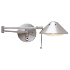 swing arm wall lamp plug in photo - 7