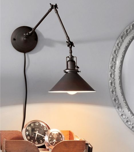swing arm wall lamp plug in photo - 8
