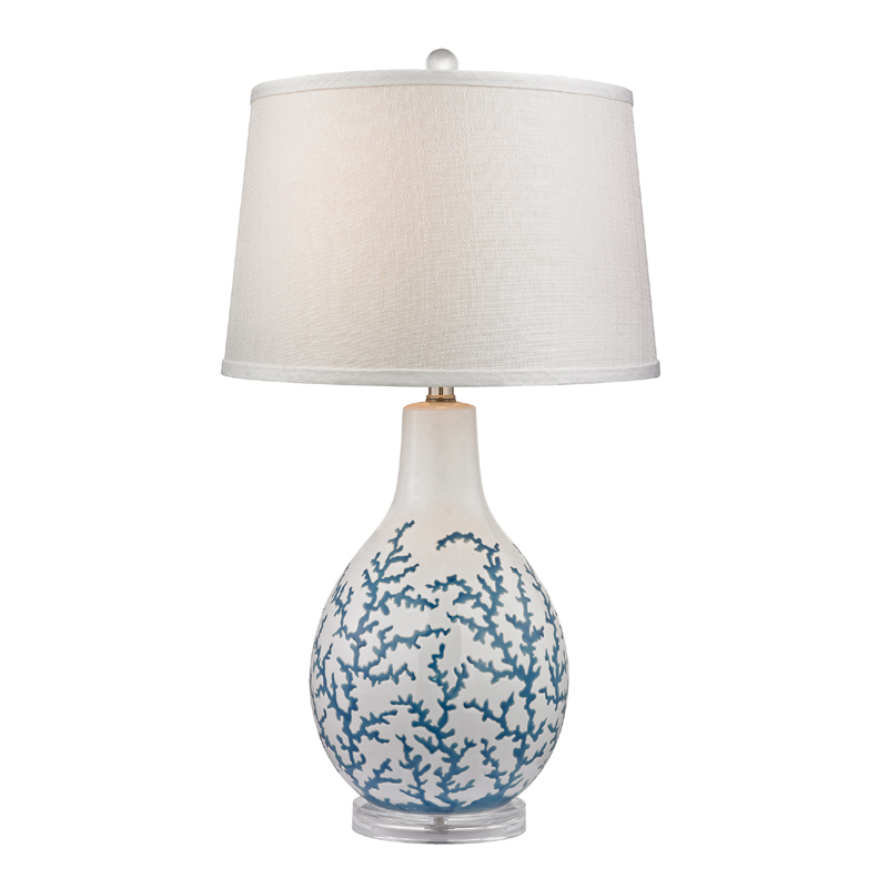 table lamp blue photo - 3