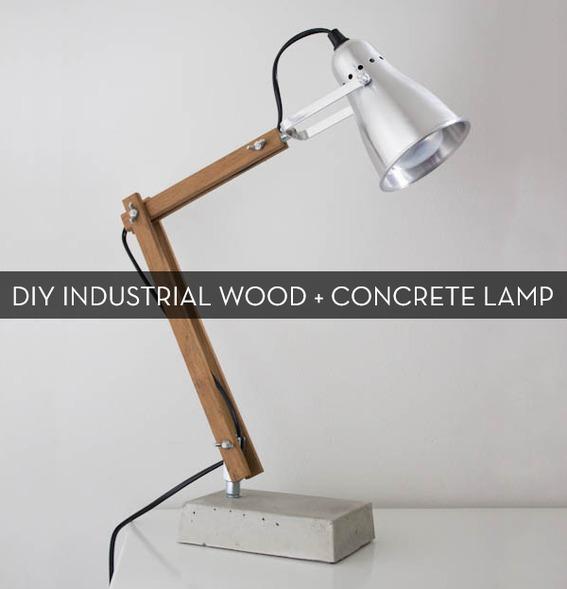 Concrete night stand lamp