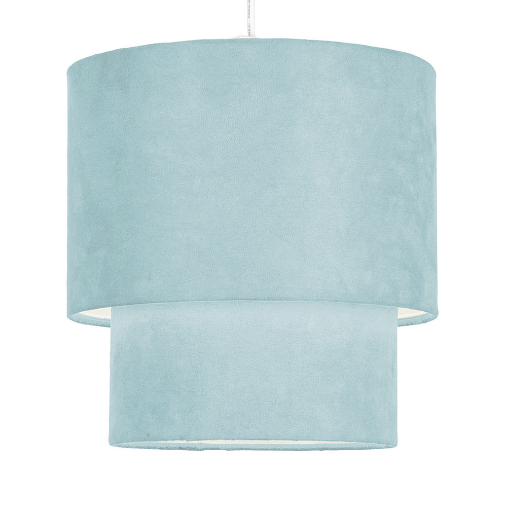 teal ceiling light shades photo - 1