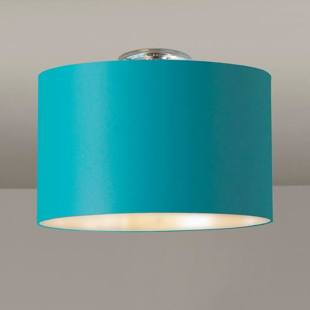 teal ceiling light shades photo - 10