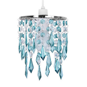 teal ceiling light shades photo - 3