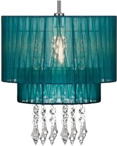 teal ceiling light shades photo - 5