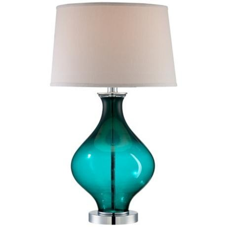 teal lamps photo - 1