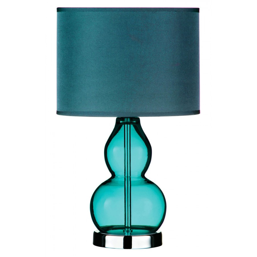 teal lamps photo - 3