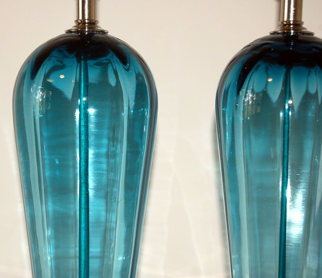 teal lamps photo - 4