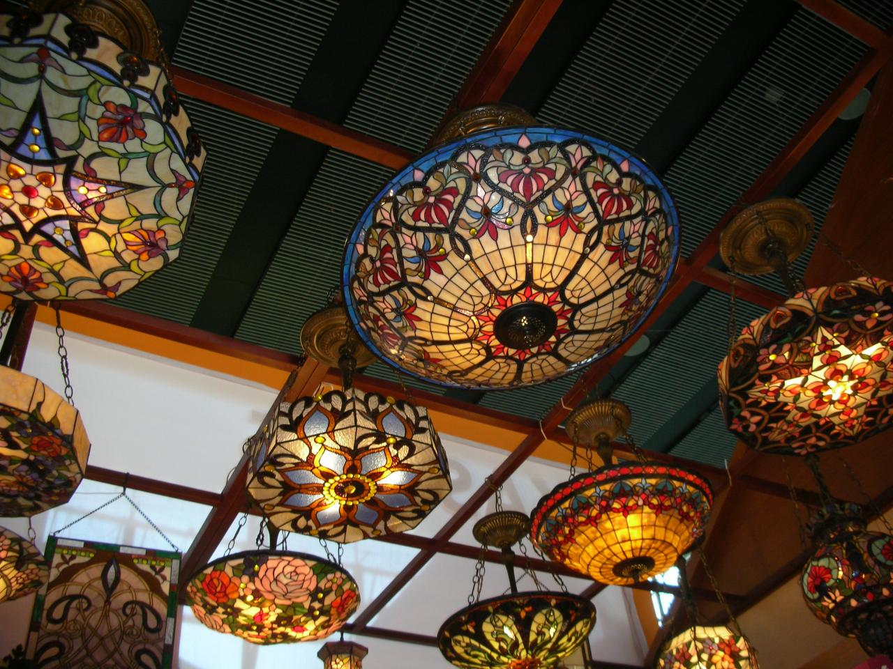 tiffany ceiling fan lights photo - 1