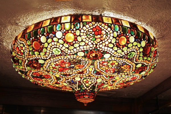tiffany ceiling light photo - 4