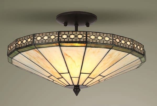 tiffany ceiling light photo - 7