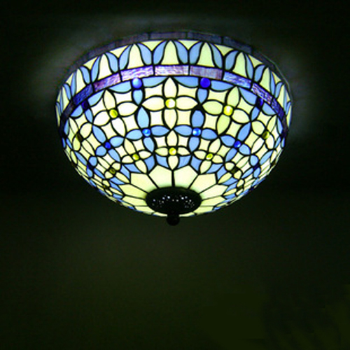 tiffany style ceiling fan light shades photo - 3