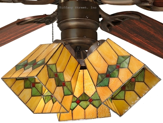 tiffany style ceiling fan light shades photo - 7