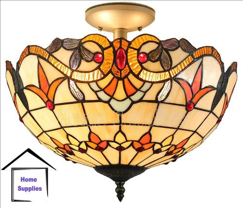 tiffany style ceiling lights photo - 9
