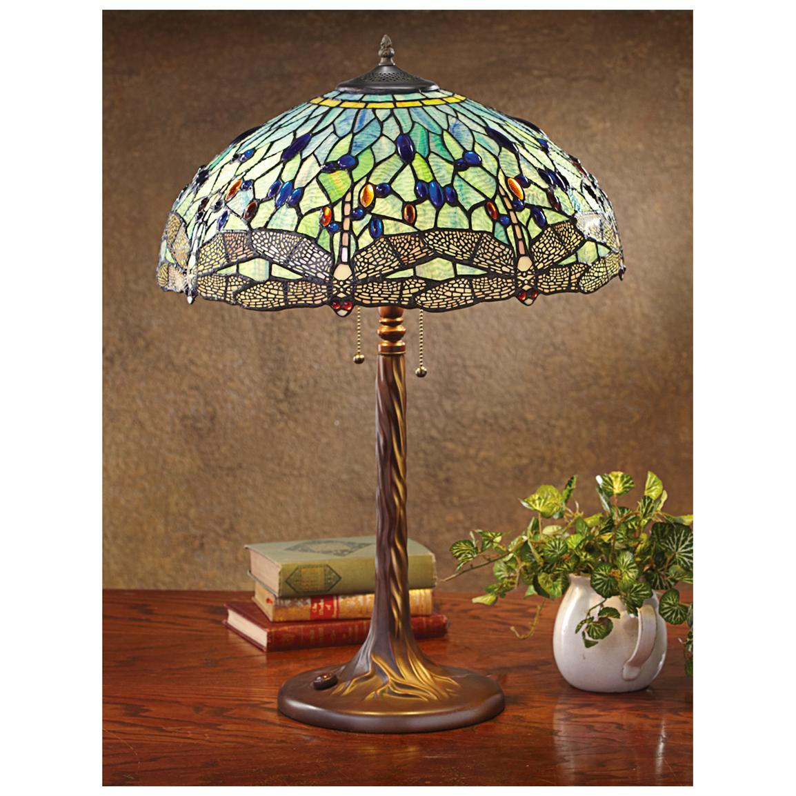 Tiffany style dragonfly table lamp – Dragonfly Desk Lamp