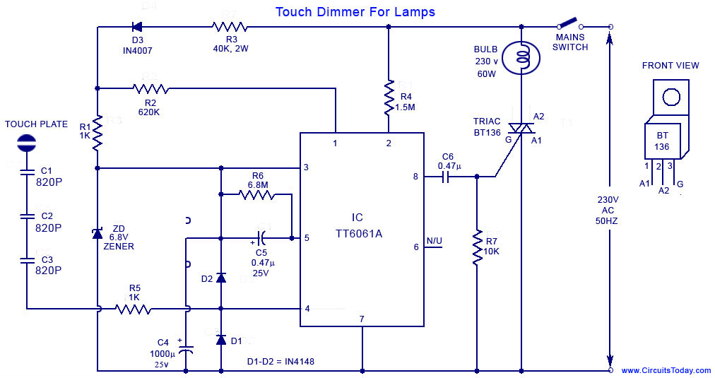 touch lamp switch photo - 6