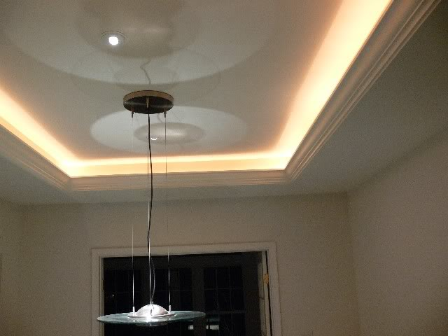 tray ceiling lights photo - 8