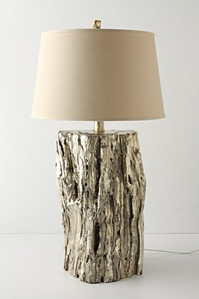 tree stump lamp photo - 5