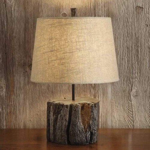 tree stump lamp photo - 7