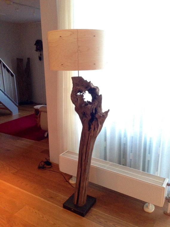 tree stump lamp photo - 8