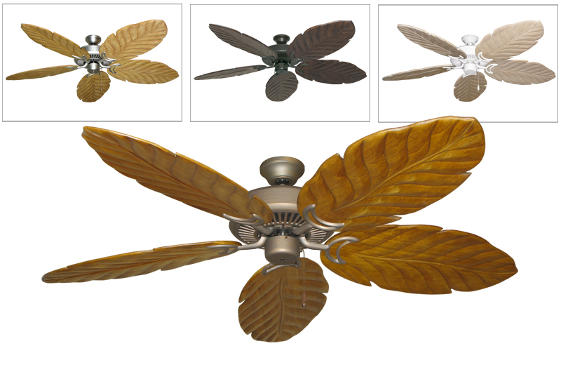 tropical leaf ceiling fan photo - 1
