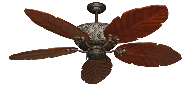 tropical leaf ceiling fan photo - 10