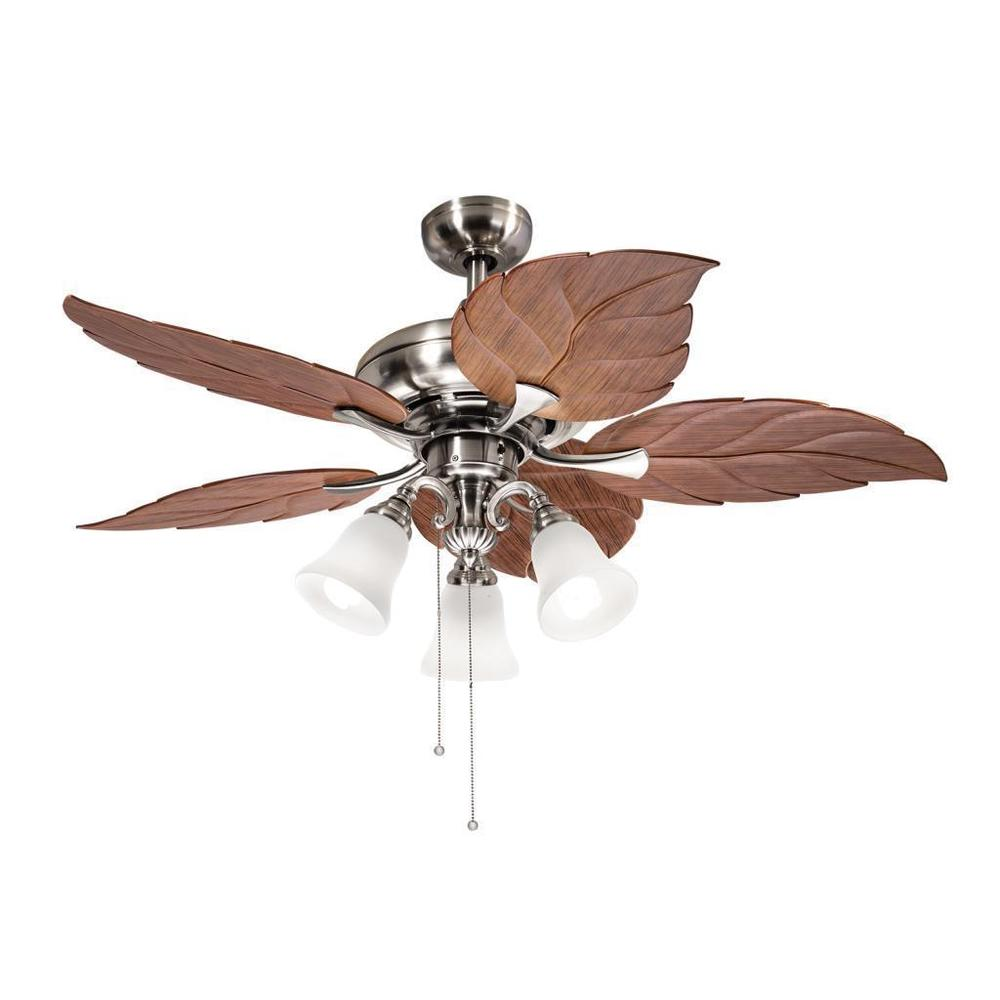 tropical leaf ceiling fan photo - 6