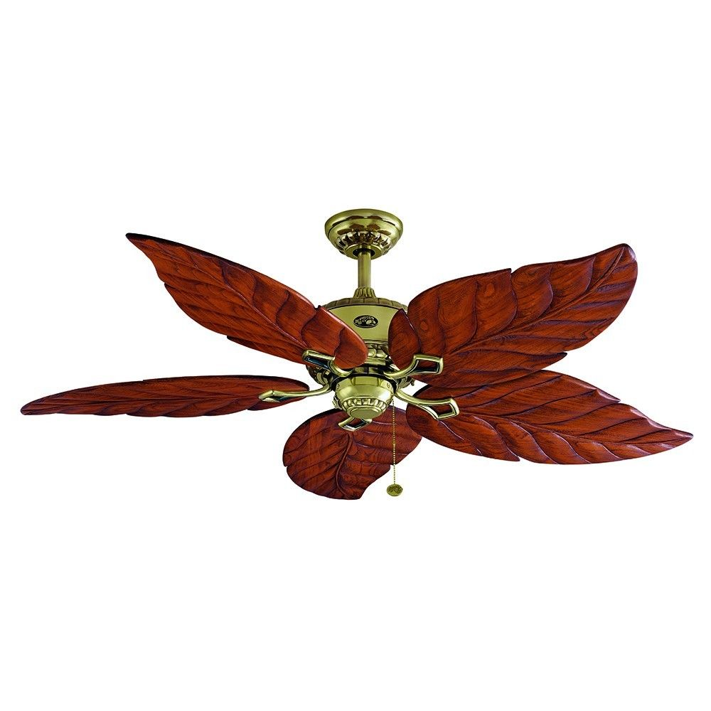 tropical leaf ceiling fan photo - 7