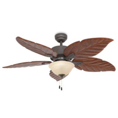 tropical leaf ceiling fan photo - 9