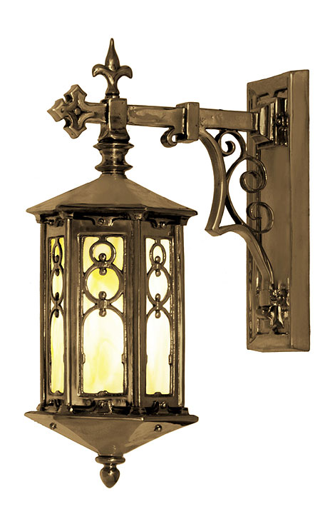 tudor outdoor lighting photo - 3