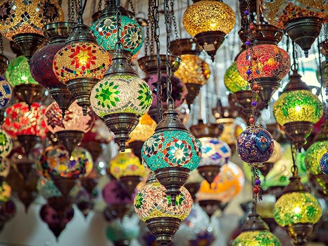 turkish mosaic lamps photo - 5