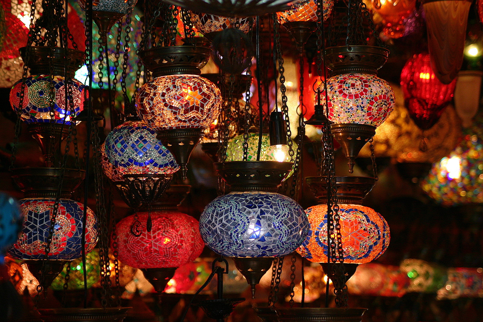turkish mosaic lamps photo - 9